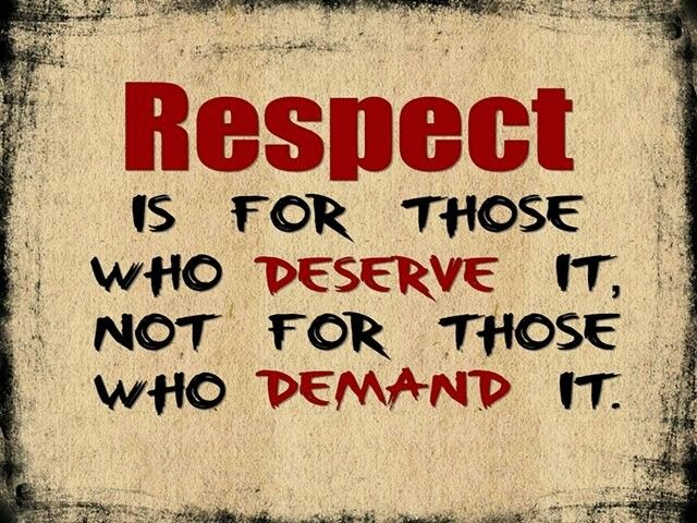 RESPECT IS FOR...