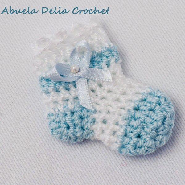 Simple Crochet Pattern For A Baby Blanket : Souvenirs para Nacimiento de Bebe o Baby Shower Crochet ...