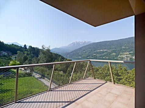 BFA | GI multi-family housing #architecture  #mountains #contemporary #modern #eco #sustainability #energy #saving #colors #color #minimal #Caldonazzo #Lake  #Trentino #Alto #Adige #Italy