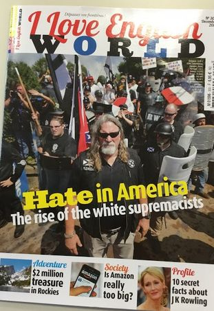 N° 300 : Hate in America : the rise of the white supremacists / Is Amazon too big ? / The Treasure of the Rocky Mountains / 10 secret facts about  JK Rowling / Modern Times 1936, a film of social protest / New talent : Declan McKenna, pop prodgy.