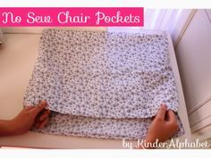 Pillowcase chair pockets! Genius, cheap, and no-sew. I will give this a try and see if if works.