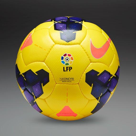Nike Footballs - Nike Incyte La-Liga Hi-Vis Ball - Football Balls - Yellow-Purple