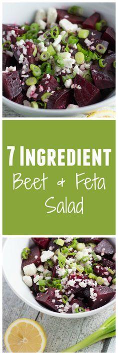 Flavorful Spring Salad! 7-Ingredient Beet and Feta Salad is one for the books!  Krollskorner.com