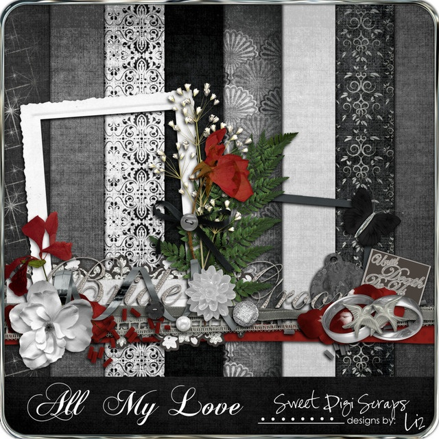 Red And Black Wedding Scrapbook Layouts