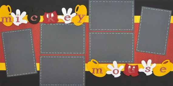 Disney Scrapbooking Page Kit- Mickey Mouse Double Page Layout: - featuring mickey mouse hands and feet