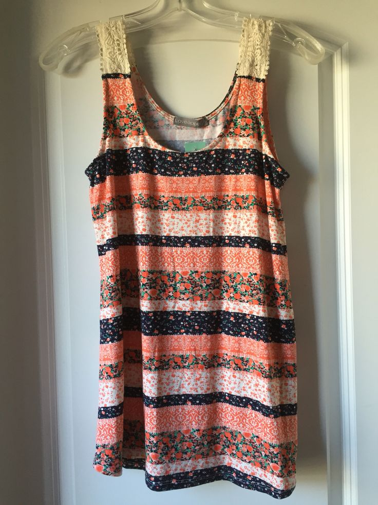 Stitch Fix Spring February 2016 Loveappella Arriga Crochet Sleeve Swing Tank Knit Top.  I love Stitch Fix! Try it out for yourself and use my referral link: https://www.stitchfix.com/referral/4586769