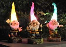 Solar Powered Outdoor Garden Novelty Gnome Lights Flowerbeds Borders & Pathway‏