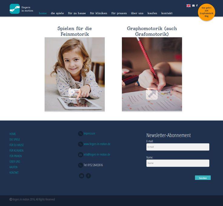Porque una website es la carta de presentación de tu empresa, Web de nuestros Amigos de www.fingers-in-motion.de (Alemania).