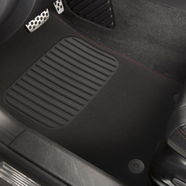 SS Floor Mats, Front and Rear Carpet Replacements: These Front and Rear Carpet Replacement Floor Mats duplicate the original production floor mats exactly and help protect the carpet from mud, water, road salt, and dirt. They are available in Black with Red stitching.