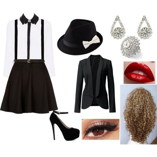 """""""Female Gangster Outfit"""" by jordan-fox on Polyvore i don't really like the shirt"""
