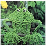 Decorative Froggy the Frog Macrame Pattern. This is as close as I can find - my macrame frog is similar in pattern, just has larger eyes...