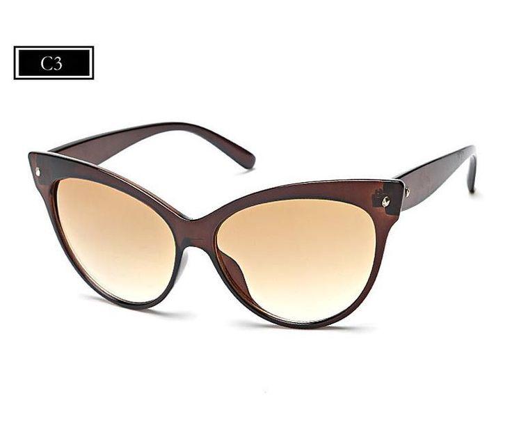 Hot Sell New Designer Women Glasses Inspired Sun Glasses Cateye Women Oversize Cat Eye Celebrity Sunglasses