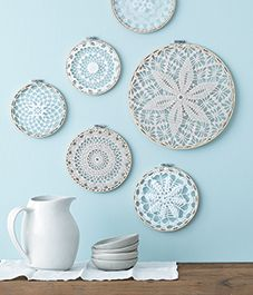 Style at Home managing editor and resident crafter Catherine Therrien shows you how to update Grandma's doilies to create wintry wall art.