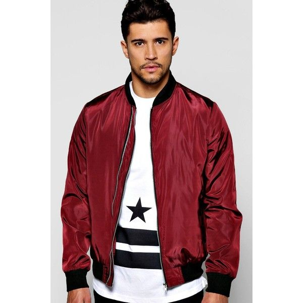 BoohooMAN Double Zip Nylon Bomber Jacket ($44) ❤ liked on ...