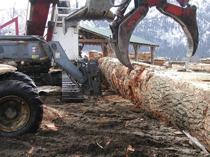 Moving large loads into the sawmill