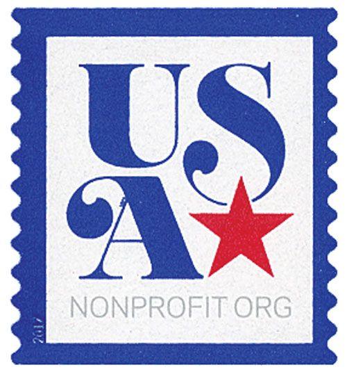 5172 2017 5c Usa And Star Nonprofit Stamp Stamp