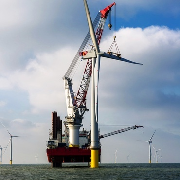 Home      News      Energy      Wind    World's largest offshore wind farm slots in final turbine