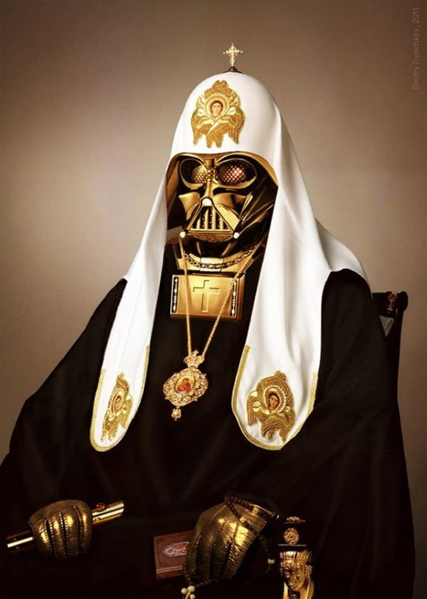 "The caption I saw was the best. ""Luke, I am your Father, and Son and Holy Ghost."": Darth Vader, Funny Image, Funny Pics, Funny Pictures, Pope Vader, Dark Side, Stars Wars, Funny Photos, Starwars"
