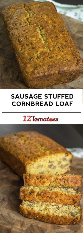 Sausage Stuffed Cornbread Loaf