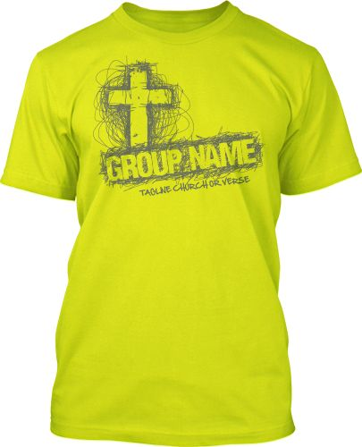 scribble cross t shirt design 791 - Church T Shirt Design Ideas