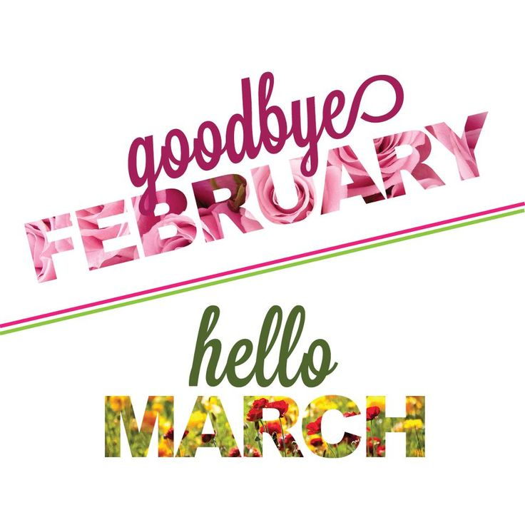 Hello March which means Hello Spring!