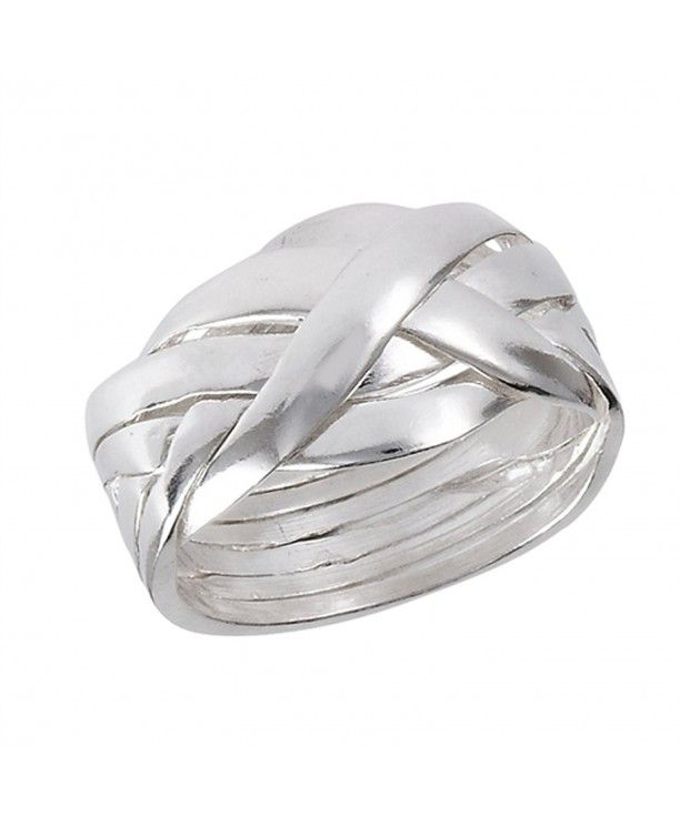 Men Women Rope Knot Band Fashion Accessory Ring Size 5-12 Sterling Silver 925