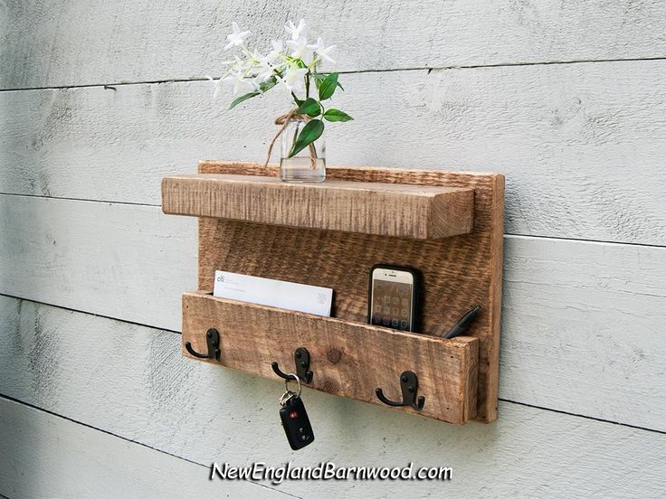 Vintage Style Rustic Entryway Wall Mail Organizer With Hooks Mail Organizer Wall Mail Holder Wall Mail Organizer