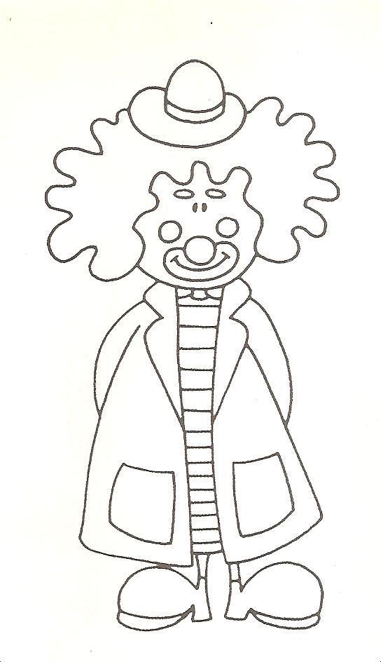 art deco clown coloring pages - photo#12