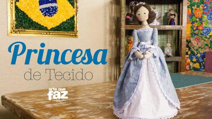 Princesa de Tecido - Por Luciana Kummer Moldes: 1- http://on.fb.me/1I3fwSO Materiais 2 tecidos de tricoline com 30cm cada com cores que combinem entre si 15c...
