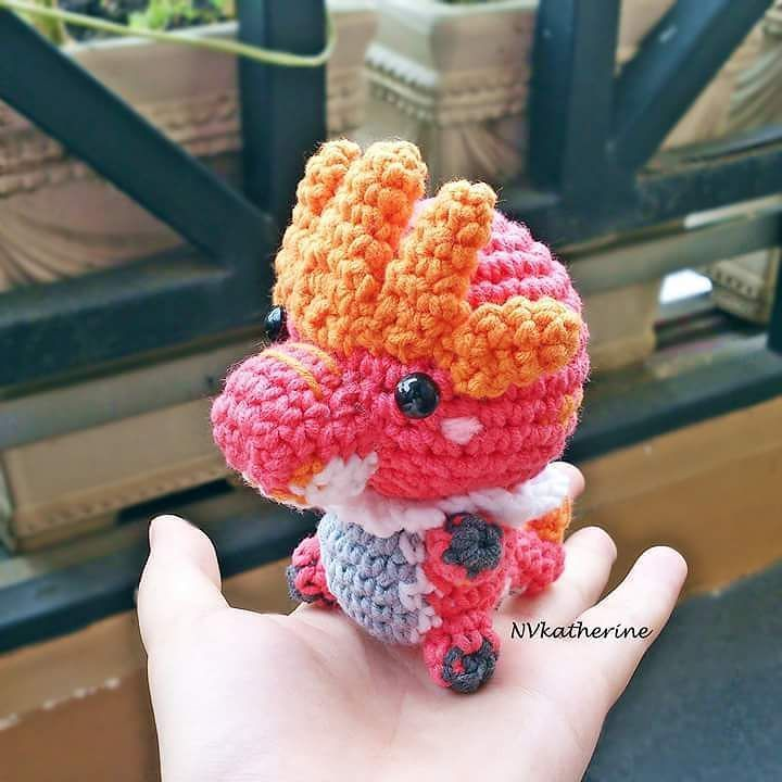Let's reveal my 40th unique Pokemon: Tyrantrum amigurumi.  There's a lot of changing colors going on since I wanted to make him as closely to the original photo as possible.  Tyrantrum is now available as made-to-order  FREE SHIPPING in my Etsy shop nvkatherine.etsy.com (link in bio)  Also there are a handful of ready to ship items waiting for adoption!  #crochet #Tyrantrum #tyrunt #amigurumi #Pokemon #Nintendo #plush #plushies #kawaii #chibi #handmade #fanart #nvkatherine etsyshop #etsy…