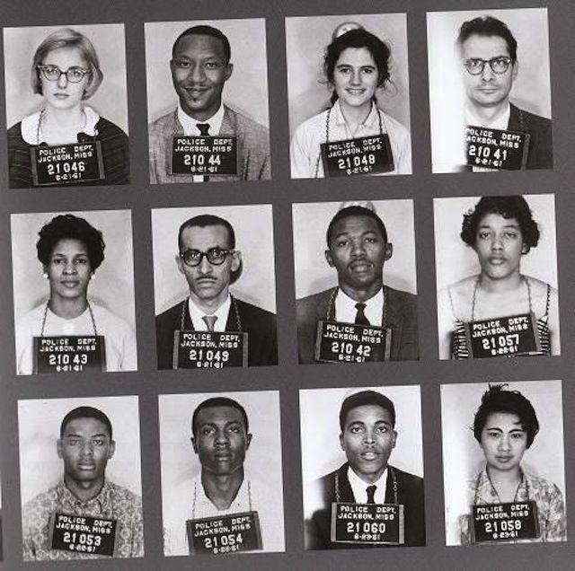 Freedom Riders' Mugshots, 1961 via teenage film.com