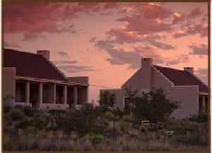 Choose where to Snooze - Karoo View Cottages at sunset