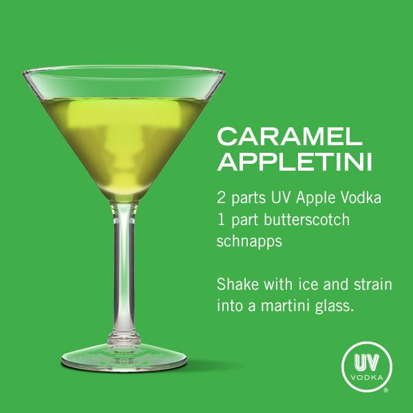 UV Vodka Recipe: Caramel Appletini