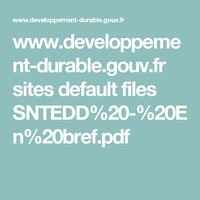 www.developpement-durable.gouv.fr sites default files SNTEDD%20-%20En%20bref.pdf