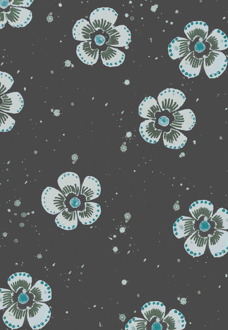 Little buttercups Charcoal colour way