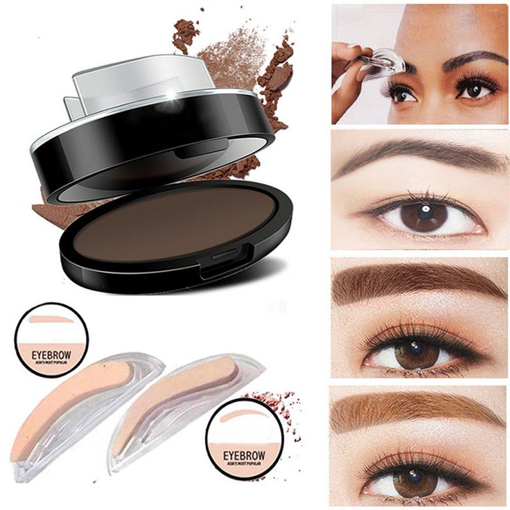 Natural Eyebrow Shadow Definition Makeup Brow Stamp Powder Palette Delicated Kit #UnbrandedGeneric