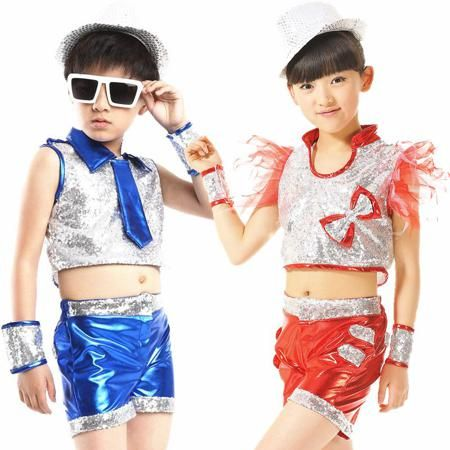 Дети танец костюм джазового танца подходит для современного танца хип-хоп барабаны для мальчиков, одежда костюмы  — 572.09р.