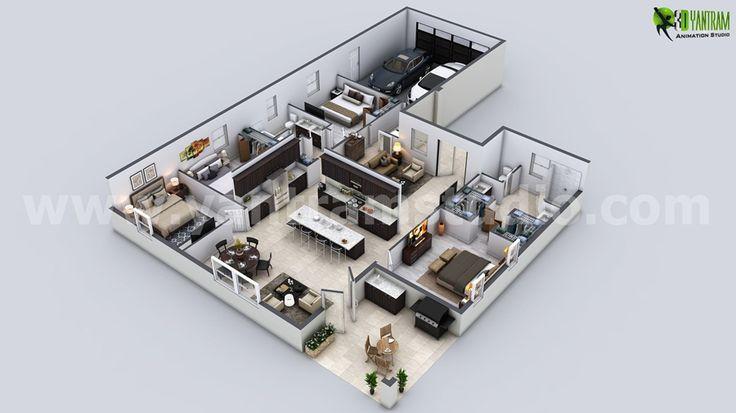 Diseño moderno del plano de piso residencial 3D   Moderno diseño de planos de pisos 3D residenciales, nuestro estudio de planos de pisos 3D tiene una colección de ideas de plan de piso moderno y moderno para su propiedad. Tenemos la experiencia de Planificador de Planos 3D Estados Unidos, Diseño de pisos 3D de Londres, Planos de pisos 3D en México, Planos de pisos arquitectónicos de procesamiento de Moscú.