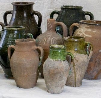 gorgeous old Turkish Olive Jars