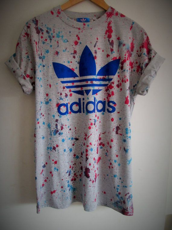 Vintage acid wash tie dye adidas originals retro rave by MyTyeDie