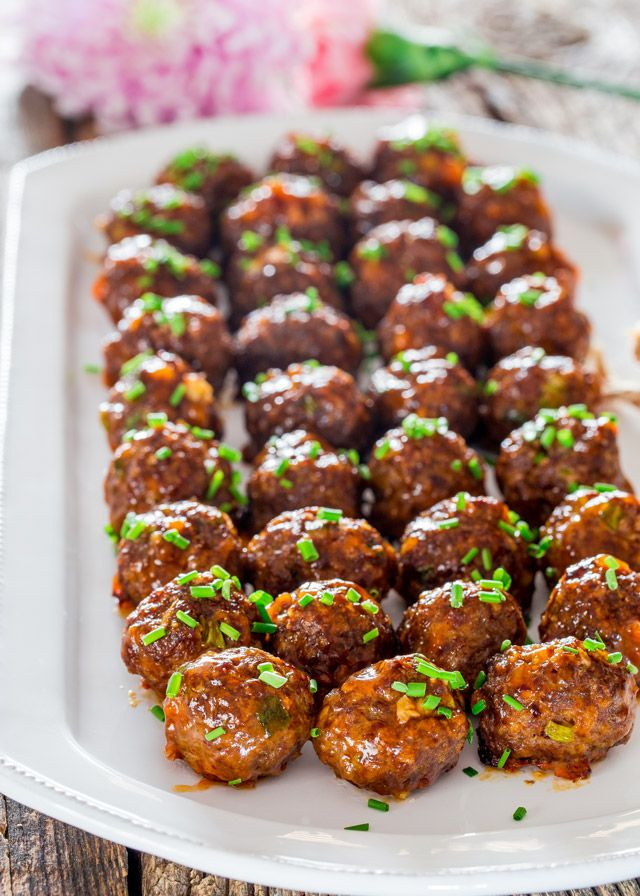 Sweet and Spicy Korean Meatballs