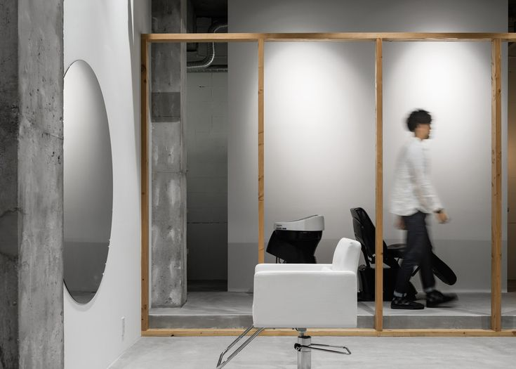 There is room for just one customer at a time in this minimally furnished Osaka hair salon.