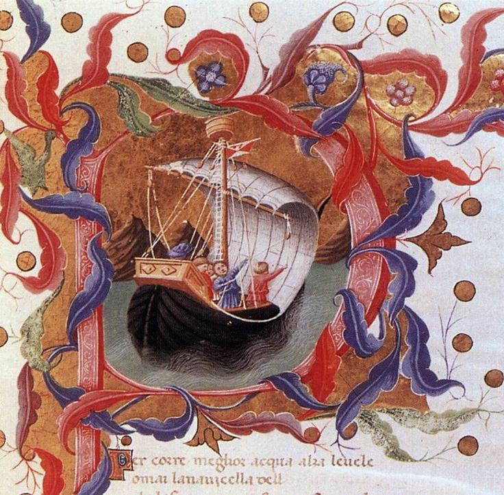 Веккьетта. Данте. Божественная комедия. 1440 г. Рукопись. Британская библиотека, Лондон.