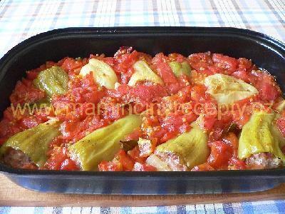 Plněné papriky v rajské omáčce