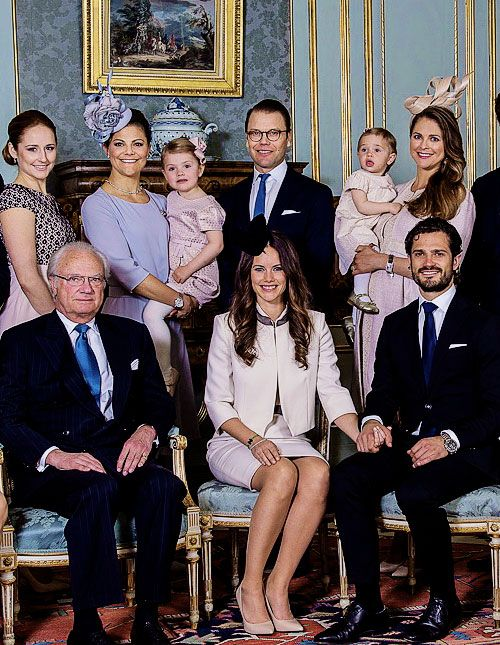 juni 2015 Swedish royal family after the reading of the banns