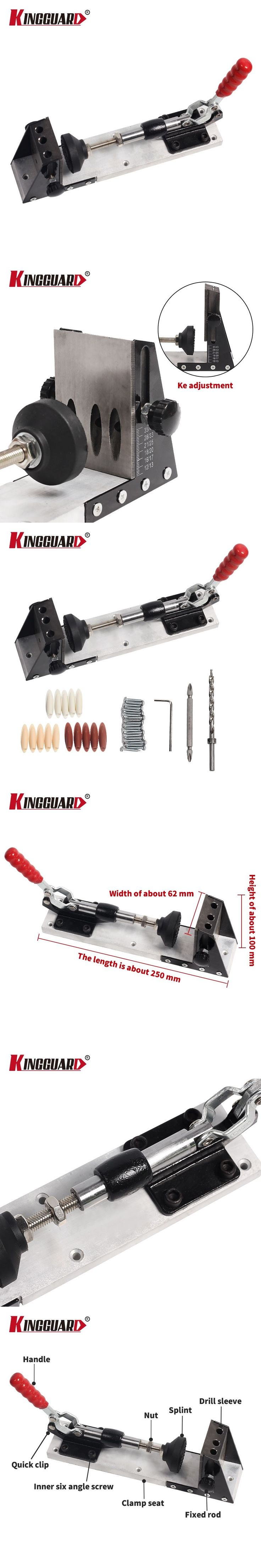 Woodworking Guide Carpenter Kit System,inclined hole drill tools,clamp base Drill Bit Kit System,Pocket Hole Jig Kit Hand tools #woodworkingtools