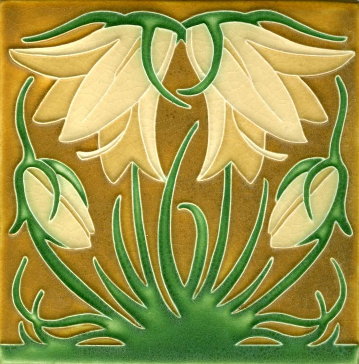 Ladybell in Green Oak, Motawi Tileworks