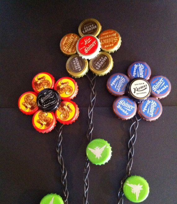 17 beste afbeeldingen over recycle diy op pinterest for How to make bottle cap flowers