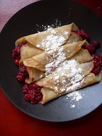 Vegan crepes.....these were good:)
