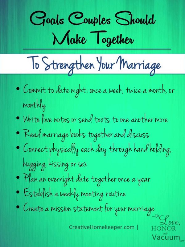 Setting Goals as a Couple: To Strengthen Your Marriage